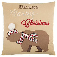 Beary Merry Christmas Pillow