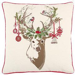Decorated Reindeer Pillow