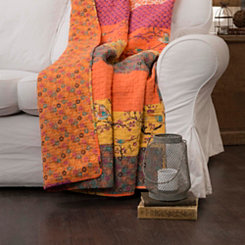 Tangerine Pattern Fabric Throw Blanket
