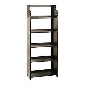 4-Tier Black Pew Folding Shelf