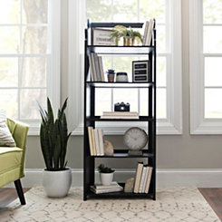 4-Tier Black Pew Folding Shelf