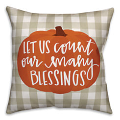 Count Our Blessings Pillow