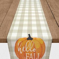 Hello Fall Buffalo Check Table Runner