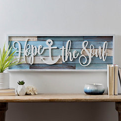 Hope Anchors The Soul Framed Wall Plaque