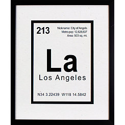 Breaking Los Angeles Framed Art Print