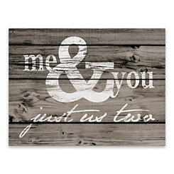 Me and You Canvas Art Print