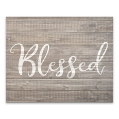 Blessed Wooden Art Print