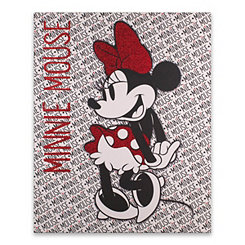 Minnie Rocks Glitter Canvas Art Print