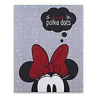 Minnie Dream Polka Dot Glitter Canvas Art Print