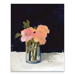 Coral Roses Canvas Art Print