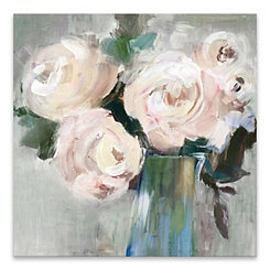 Pale Pink Bouquet Canvas Art Print