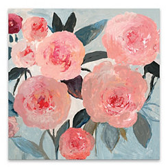 Coral Floral Canvas Art Print