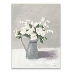 White in Pewter Jug Canvas Art Print