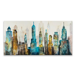 City Sky Canvas Art Print