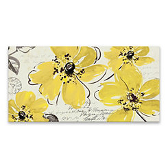 Windy Yellow Canvas Art Print