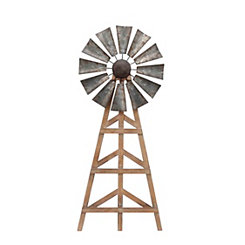 Wood and Metal Windmill
