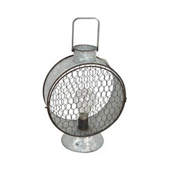 Silver Tin LED Miners Lantern, 15 in.