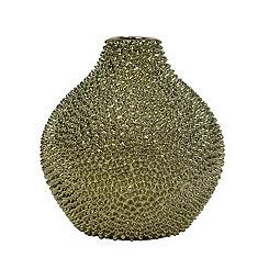 Gold Spikes Ceramic Vase, 10 in.