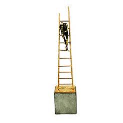 Thinking on a Ladder Sculpture