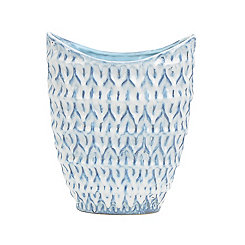 Blue and White Dimpled Vase