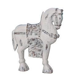 White Resin Horse Statue