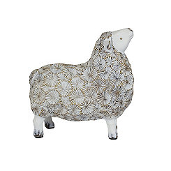 Woolly White Sheep Statue, 7 in.