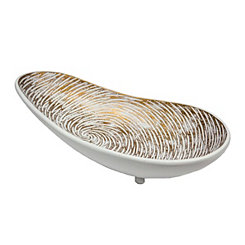 Swirled Brown and White Decorative Platter