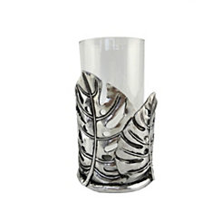 Silver Fay Leaf Vase and Candle Holder