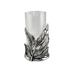 Silver Ari Leaf Vase and Candle Holder