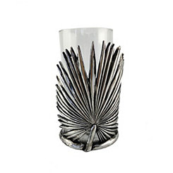 Silver Eli Leaf Vase and Candle Holder