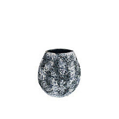 Black and White Decorative Ceramic Vase, 10.5 in.