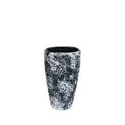 Black and White Decorative Resin Vase, 12.5 in.