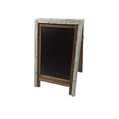 Silver Tin Frame Chalkboard Easel
