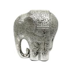 Shiny Silver Elephant Figurine