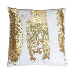 Gold Metallic Sequin Pillow