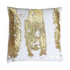 Gold Metallic Sequin Pillow