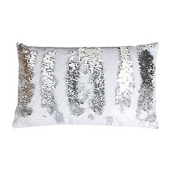 Metallic Sequin Accent Pillow