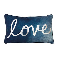 Blue Love Accent Pillow