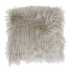 Oatmeal Faux Fur Pillow