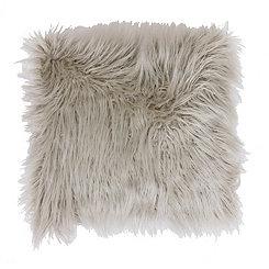 Oatmeal Faux Fur Pillow