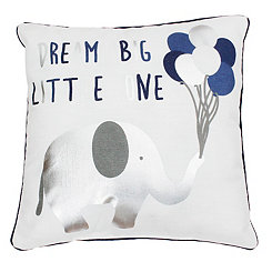 Blue Dream Big Elephant Pillow