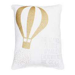Gold Balloon Accent Pillow