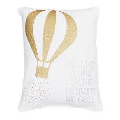 Gold Balloon Accent Pillow