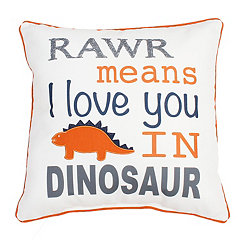 Orange Dinosaur Pillow