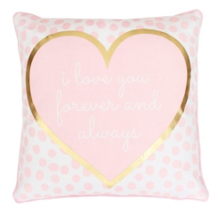 Pink and Gold Love Pillow