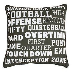 Green Football Field Pillow