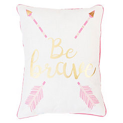 Pink Arrow Message Pillow