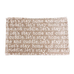 Tan Cuddle Printed Flannel Fleece Pet Throw