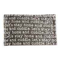 Black Cuddle Printed Flannel Fleece Pet Throw