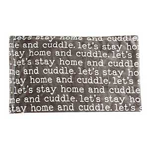 Black Cuddle Printed Flannel Fleece Pet Throw